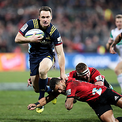 Ben Smith in action during the Super Rugby match between the Crusaders and Highlanders at Wyatt Crockett Stadium in Christchurch, New Zealand on Friday, 06 July 2018. Photo: Martin Hunter / lintottphoto.co.nz
