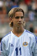 16.08.2003, T??l? Stadium, Helsinki, Finland.FIFA U-17 World Championship - Finland 2003.Match 12: Group A - Finland v Mexico.Jarno Parikka - Finland.©Juha Tamminen