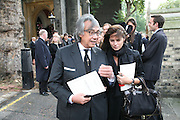 David and Lucy Tang, Mark Birley funeral. St Paul's , Knightsbridge. London. 19 September 2007. -DO NOT ARCHIVE-© Copyright Photograph by Dafydd Jones. 248 Clapham Rd. London SW9 0PZ. Tel 0207 820 0771. www.dafjones.com.