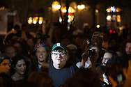 """New York City, Michael Moore speaks to protestors and the media on Sept 26th 2011, ten days after the Occupy Wall Street movement began on Sept. 17th. Hundreds of demonstrators and activists affiliated with the """"Occupy Wall Street"""" movement have been living in Liberty Square in the finical district and  marching on Wall Street protesting corporate greed and a corrupt political system since Sept. 17th. 80 people were arrested on Sept. 24th when the police clashed with the protesters near Union Square Park."""