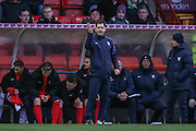 York City Manager Jackie McNamara  during the Sky Bet League 2 match between York City and Accrington Stanley at Bootham Crescent, York, England on 28 November 2015. Photo by Simon Davies.