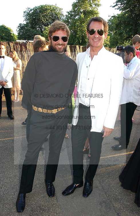 Left to right, STEFANO PILATI and TIM JEFFERIES at the Serpentine Gallery Summer party sponsored by Yves Saint Laurent held at the Serpentine Gallery, Kensington Gardens, London W2 on 11th July 2006.<br /><br />NON EXCLUSIVE - WORLD RIGHTS