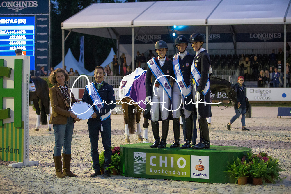 Graves Laura, White-O'Connor Dawn, Perry-Glass Kasey<br /> Grand Prix Freestyle CDI5*- CHIO Rotterdam 2017<br /> © Hippo Foto - Sharon Vandeput<br /> 24/06/17
