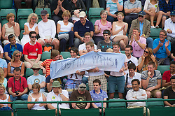 LONDON, ENGLAND - Monday, June 21, 2010: Supporters of  Dustin Brown (JAM) during the Gentleman's Singles 1st Round on day one of the Wimbledon Lawn Tennis Championships at the All England Lawn Tennis and Croquet Club. (Pic by David Rawcliffe/Propaganda)