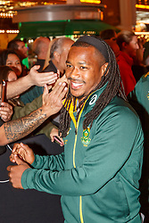 February 28, 2019 - U.S. - LAS VEGAS, NV - MARCH 01: Cecil Afrika of South Africa at the all nations parade the evening before the USA Rugby Sevens held March 1-3, 2019 at Sam Boyd Stadium in Las Vegas, NV. (Photo by Allan Hamilton/Icon Sportswire) (Credit Image: © Allan Hamilton/Icon SMI via ZUMA Press)