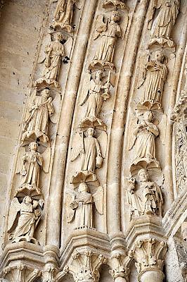 Frankrijk, Amiens, 13-5-2013Exterieur van de gothische kathedraal uit de 13e eeuw.Foto: Flip Franssen/Hollandse Hoogte