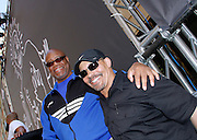 """George Francis and Ricky pose during the Paradise Garage Party """"Larry Levan Day"""" event on King Street in New York City, New York on May 11, 2014."""
