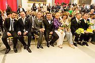 Roma 21 Maggio 2015<br /> Celebration Day, l'inaugurazione del registro delle unioni civili in Campidoglio. Sono 17 le coppie che si sono presentate per l'iscrizione: coppie omosessuali ed eterosessuali che dopo anni di convivenza  festeggiano con lo scambio degli anelli, la cerimonia si è svolta nella sala della Protomoteca di Palazzo Senatorio.<br /> Rome May 21, 2015<br /> Celebration Day, the opening of the register of civil unions in the Capitol. Are 17 couples that have occurred for registration: homosexual and heterosexual couples who, after years of living together celebrate with the exchange of rings, the ceremony was held in the hall of Protomoteca Palazzo Senatorio.