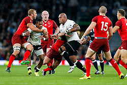 Fiji Winger Nemani Nadolo breaks - Mandatory byline: Rogan Thomson/JMP - 07966 386802 - 18/09/2015 - RUGBY UNION - Twickenham Stadium - London, England - England v Fiji - Rugby World Cup 2015 Pool A.