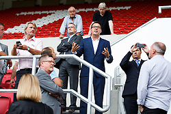 Bristol Sport CEO Andrew Billingham leads a tour as Lansdown Club Members are given a preview of the Heineken Lounge and other facilities in the newly built South Stand - Mandatory byline: Rogan Thomson/JMP - 07966 386802 - 13/08/2015 - SPORT - Ashton Gate Stadium - Bristol, England - Bristol Sport Lansdown Club Networking Event.