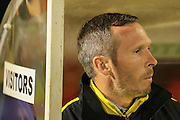 Oxford United Manager Michael Appleton  during the Sky Bet League 2 match between York City and Oxford United at Bootham Crescent, York, England on 29 September 2015. Photo by Simon Davies.