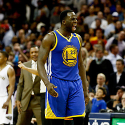 Dec 13, 2016; New Orleans, LA, USA;  Golden State Warriors forward Draymond Green (23) reacts after stealing a pass from New Orleans Pelicans forward Anthony Davis (not pictured) during the fourth quarter of a game at the Smoothie King Center. The Warriors defeated the Pelicans 113-109. Mandatory Credit: Derick E. Hingle-USA TODAY Sports