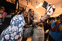 Tarana Burke and Serena Williams backstage at the Klarna STYLE360 NYFW Hosts S by Serena Fashion Show