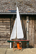 Sail Boat Yacht Boat Model out of water on cradle