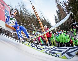 10.01.2014, Kulm, Bad Mitterndorf, AUT, FIS Ski Flug Weltcup, Probedurchgang, im Bild Marinus Kraus (GER) // Marinus Kraus (GER) during the Trial jump of FIS Ski Flying World Cup at the Kulm, Bad Mitterndorf, <br /> Austria on 2014/01/10, EXPA Pictures © 2014, PhotoCredit: EXPA/ JFK