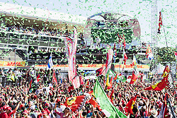 September 3, 2017 - Monza, Italy - Motorsports: FIA Formula One World Championship 2017, Grand Prix of Italy, ..#77 Valtteri Bottas (FIN, Mercedes AMG Petronas F1 Team), #44 Lewis Hamilton (GBR, Mercedes AMG Petronas F1 Team), #5 Sebastian Vettel (GER, Scuderia Ferrari) (Credit Image: © Hoch Zwei via ZUMA Wire)