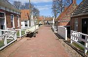 Street with homes, Zuiderzee museum, Enkhuizen, Netherlands