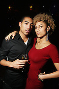l to r: Lemar James and Ally Love at The Birthday Celebration for Kelli Coleman held at The Avenue on Decemeber 6, 2009 in New York City