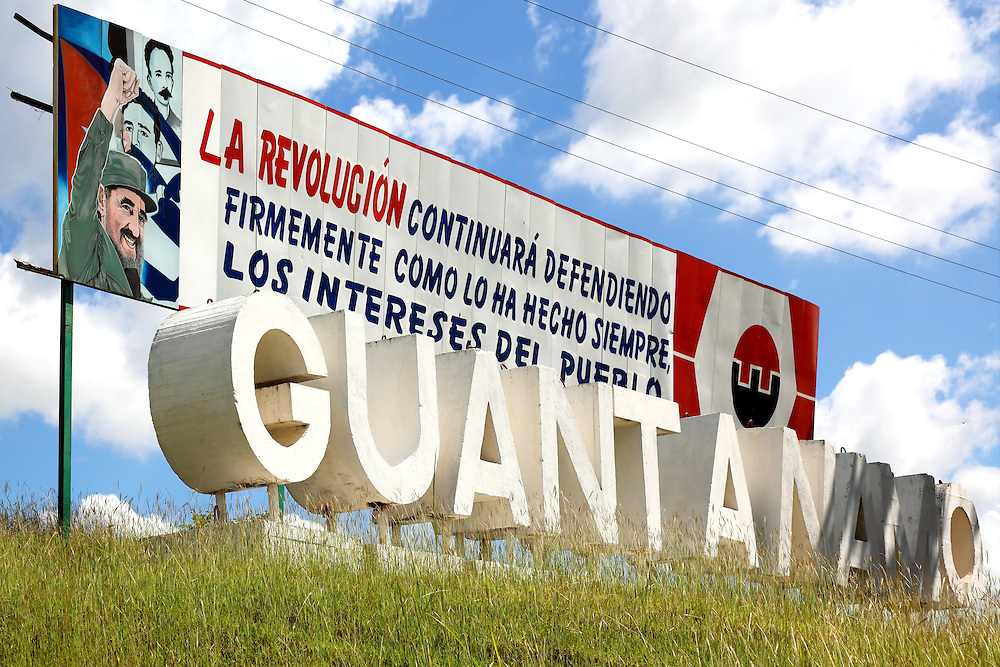 Revolutionary sign in Guantanamo, Cuba.