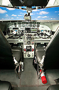 """The panel of a restored Lockheed 12A Electra Junior.  It was used in the movie """"Amelia"""", premiered in the fall of 2009."""