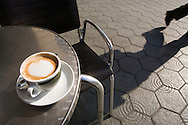 Cup of cappuccino on outdoors cafe table, Barcelona, Spain. http://www.gettyimages.com/detail/photo/cup-of-cappuccino-on-outdoors-cafe-table-high-res-stock-photography/sb10066779g-001