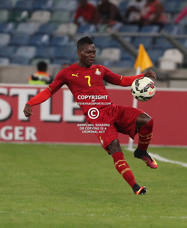 Christian Atsu of Ghana during the international friendly match between South Africa ( Bafana Bafana ) and Ghana at the Moses Mabhida stadium in Durban, South Africa on the 11th October 2016<br /> <br /> Photo by:   Steve Haag / Real Time Images