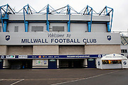 Welcome to Millwall Football Clube, The Den during the EFL Sky Bet League 1 match between Millwall and Shrewsbury Town at The Den, London, England on 10 December 2016. Photo by Matthew Redman.