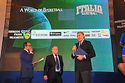 DESCRIZIONE : Monza Vila Reale Italia Basket Hall of Fame<br /> GIOCATORE : Gianluigi Paragone Alessandro Galeani Dino Meneghin<br /> SQUADRA : FIP Federazione Italiana Pallacanestro EVENTO : Italia Basket Hall of Fame<br /> GARA : <br /> DATA : 29/06/2010<br /> CATEGORIA : Premiazione<br /> SPORT : Pallacanestro<br /> AUTORE : Agenzia Ciamillo-Castoria/M.Gregolin