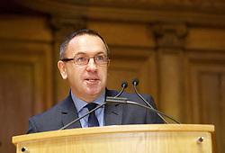 Roddy Smith, CEO of Essential Edinburgh, addressing 200 delegates at ETAG2019 at the McEwan Hall, Edinburgh. pic copyright Terry Murden @edinburghelitemedia