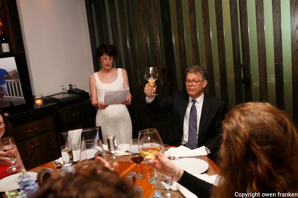 joe and stephanie pre wedding dinner<br /> <br /> - photograph by Owen Franken