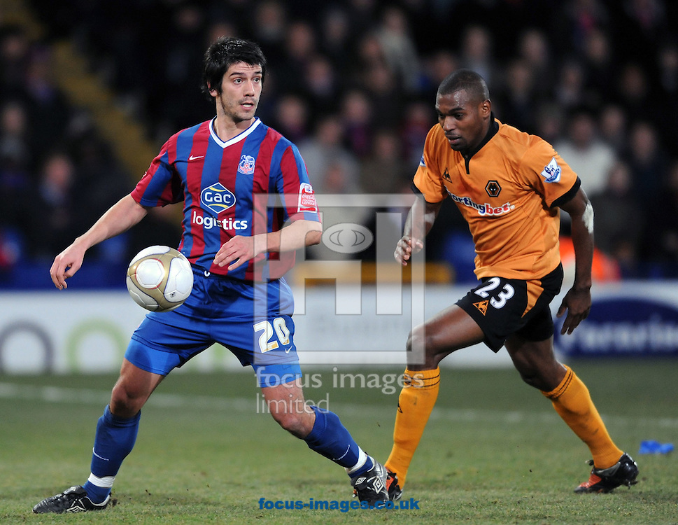 London - Tuesday February 2nd, 2010: Danny Butterfield of Crystal Palace and Ronald Zubar of Wolverhampton Wanderers during the FA Cap fourth round replay at Selhurst Park stadium, London. (Pic by Daniel Hambury/Focus Images 07813 022858)