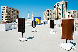 Accoustic installation called Silence Spins by Shiro Takatani on opening day of the 11th Sharjah Biennial Art festival in United Arab Emirates