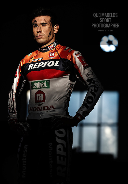 GIRONA - SPAIN; Toni Bou World Indoor Trials Championships during a photo session in Girona, on January 13, 2010.  (Photo by Manuel Queimadelos)