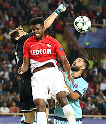 Jemerson (R) from Monaco has the fight with Iker Casillas  from Porto during the match of Champions League in Monaco at Stade Louis II in Francele 26 September 2017. Monaco - Porto 0-3. (Credit Image: © Serge Haouzi/Xinhua via ZUMA Wire)