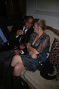 Invar Emin and Patsy Koza, Book launch party for 'Strangeland' by Tracey Emin.  33 Portland Place. London. 21 October 2005. ONE TIME USE ONLY - DO NOT ARCHIVE © Copyright Photograph by Dafydd Jones 66 Stockwell Park Rd. London SW9 0DA Tel 020 7733 0108 www.dafjones.com