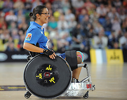 Monica Contrafatto of Italy - Photo mandatory by-line: Dougie Allward/JMP - Mobile: 07966 386802 - 12/09/2014 - The Invictus Games - Day 2 - Wheelchair Rugby - London - Copper Box Arena