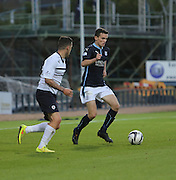 Dundee's Paul McGinn and Raith Rovers' Ryan Conroy - Dundee v Raith Rovers, Scottish League Cup at Dens Park<br />