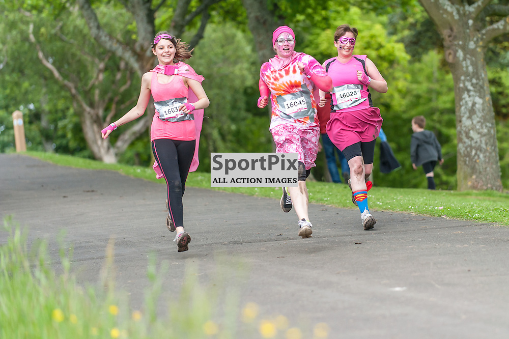 Action from CRUK's Pretty Muddy Glasgow at Bellahouston Park in Glasgow, 20 June 2015. (c) Paul J Roberts / Sportpix.org.uk