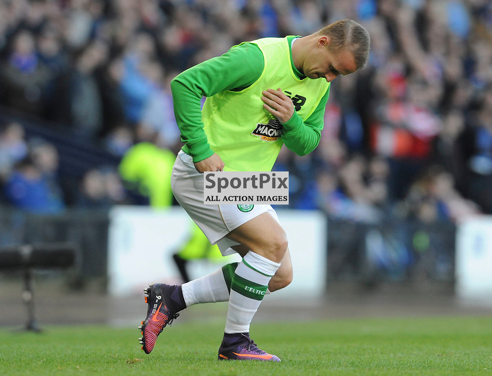 Leigh Griffiths warms up in the match between Rangers v Celtic, Betfred Cup semi-final, Hampden Park, Sunday 23 October 2016, (c) Angie Isac | SportPix.org.uk