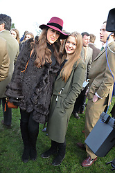 Left to right, PHOEBE ROLLS and PHOEBE SALTER at the 2012 Hennessy Gold Cup at Newbury Racecourse, Berkshire on 1st December 2012