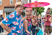 Dave Deboy, Honfest's MC, and contest stage host Bonnie Hockstein, right, at Honfest 2018 on Sunday, June 10, 2018.