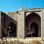 25 November 1976<br /> Kabul. Looking through modern repaired wall.