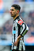 Ayoze Perez (#17) of Newcastle United reacts after his header misses the target during the Premier League match between Newcastle United and Huddersfield Town at St. James's Park, Newcastle, England on 31 March 2018. Picture by Craig Doyle.