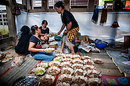 Indonesia, Sulawesi. Kitchen during a funeral ceremony in Tana Toraja.<br />