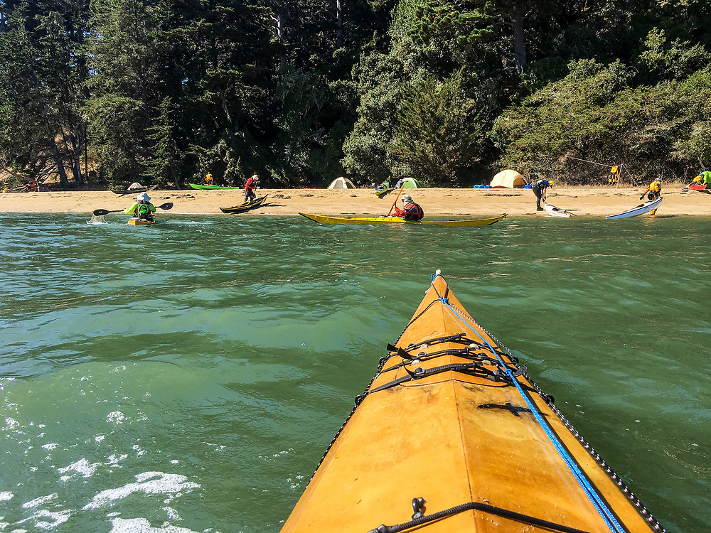 Approaching Marshall Beach.