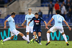 September 20, 2017 - Rome, Lazio, Italy - Jorginho of Napoli in action during the Serie A match between SS Lazio and SSC Napoli at Stadio Olimpico on September 20, 2017 in Rome, Italy. (Credit Image: © Matteo Ciambelli/NurPhoto via ZUMA Press)