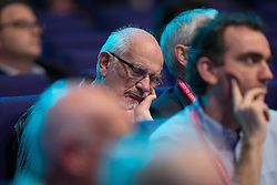 © Licensed to London News Pictures . 07/10/2014 . Glasgow , UK . Sleeping delegate at the conference . The Liberal Democrat Party Conference 2014 at the Scottish Exhibition and Conference Centre in Glasgow . Photo credit : Joel Goodman/LNP