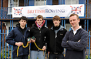 London. Great Britain, Right, Chief Timer, Keith SETTLE,  and Student assistants from Shiplake College, Henley, 2010 Women's Head of the River Race, Raced over the reverse Championship Course, Chiswick to Putney, River Thames, England,  Saturday   13/03/2010 [Mandatory Credit. Peter Spurrier/Intersport Images]