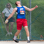 (Ottawa, Canada---07 July 2017) Jacob Lalonde in U20 discus final at the 2017 Canadian Track and Field Championships. (Photo by Sean W Burges / Mundo Sport Images).