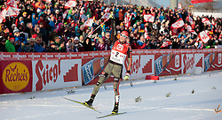 30.01.2016, Casino Arena, Seefeld, AUT, FIS Weltcup Nordische Kombination, Seefeld Triple, Langlauf, im Bild Eric Frenzel (GER) // Eric Frenzel of Germany reacts after 10km Cross Country Gundersen Race of the FIS Nordic Combined World Cup Seefeld Triple at the Casino Arena in Seefeld, Austria on 2016/01/30. EXPA Pictures © 2016, PhotoCredit: EXPA/ JFK